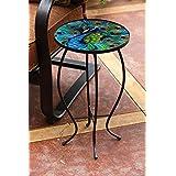 Evergreen Enterprises 2GM401 Glass Table Peacock