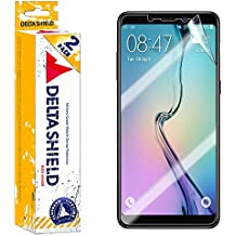 Samsung Galaxy A8+ Screen Protector (2018)[2-Pack], DeltaShield BodyArmor Full Coverage Screen Protector for Samsung Galaxy A8+ Military-Grade Clear HD Anti-Bubble Film