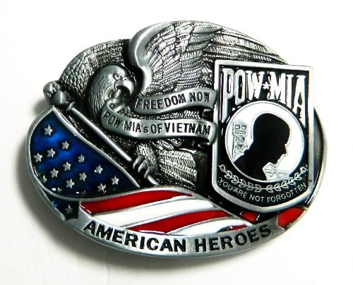 American Heroes POW*MIA Freedom Now POW*MIA's of Vietnam Belt Buckle ()