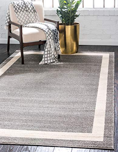Unique Loom Del Mar Collection Contemporary Transitional Gray Area Rug 5 0 x 8 0