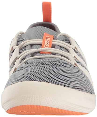 adidas outdoor Women's Terrex Climacool Boat Sleek Water Shoe Mid Grey/Chalk White/Easy Orange cheap clearance outlet buy original outlet shopping online Vhh5RKEe5