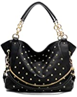 Textured Rhinestone Chain Strap Shoulder Bag Tote Womens Day Handbag