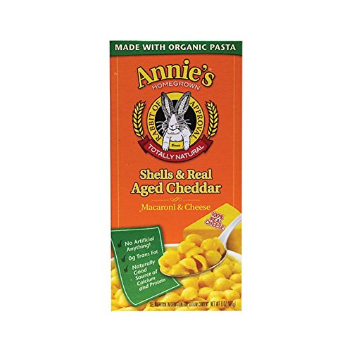 Aged Wisconsin Cheddar - Annie's Homegrown Macaroni & Cheese - Shells & Real-Aged Wisconsin Cheddar - 6 oz