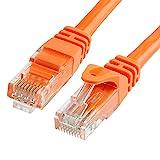 Cmple - CAT 6 500MHz UTP ETHERNET LAN NETWORK CABLE -w 100 FT Orange