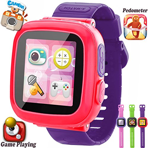 GBD Kids Game Smart Watches [AR Pro Edition] for Boys Girls with Pedometer Timer Camera Wristwatch Alarm Fitness Tracker Sport Watch Indoor Outdoor Children Learning Toy Gift (Ultra Violet)