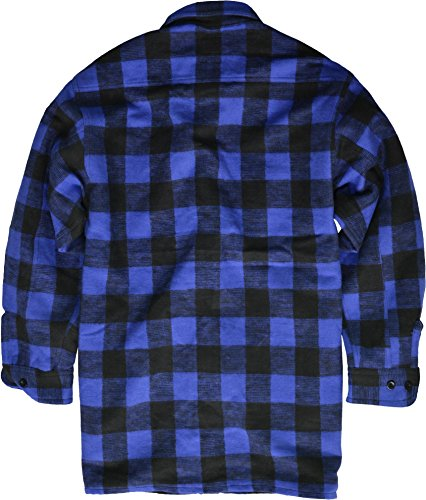 Chemise De Bûcheron / 100% Coton / De QualitéÉpaisse - bleu/noir, 40