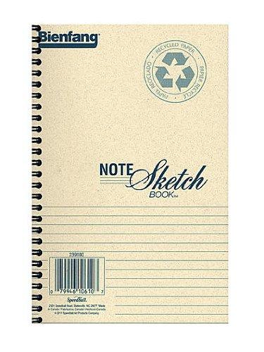 Bienfang Note Sketch Book horizontal format 8 in. x 5 1/2 in. [PACK OF 3 - Sketchbook Bienfang
