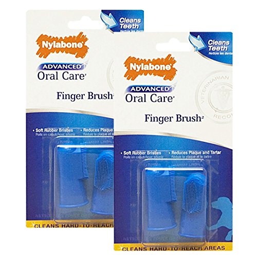 Nylabone Advanced Oral Care Dog Finger Brush, 4 Count