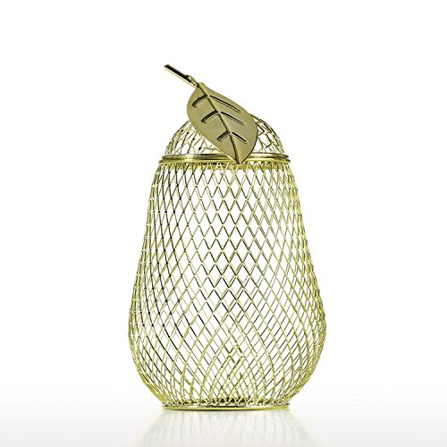 Tooarts Wine Cork Container Money Coin Storage Net Yellow Pear Sweet Fruit Bright Home Kitchen Bar Hotel Decoration