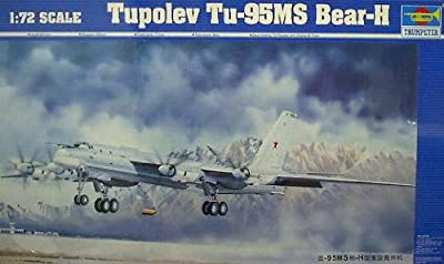 Russian Tupolev Tu-95MS Bear H 1-72 by Trumpeter
