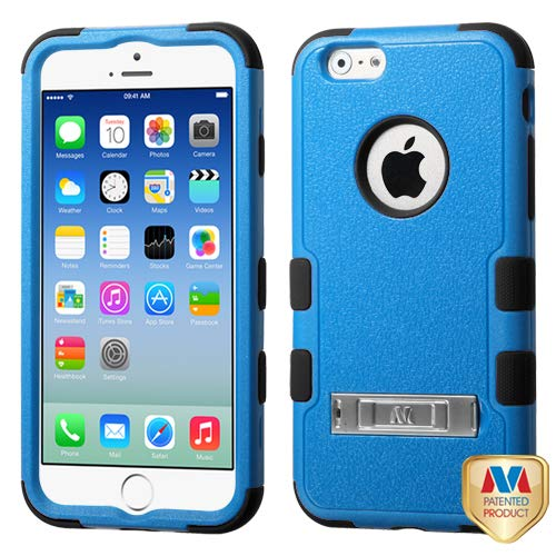 Asmyna iPhone 6 Tuff Hybrid Phone Protector Cover with Stand - Retail Packaging - Natural Dark Blue/Black