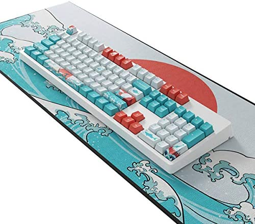 104 Touches Coral Sea Keycap Set OEM Profil PBT Dye-Sublimation Keycaps pour 87/104 Touches Clavier Mécanique