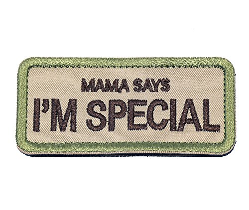 Mama SAYS I'M Special Tactical Morale Patch Tactical Morale Badge Hook & Loop Patch (Mama Patch)