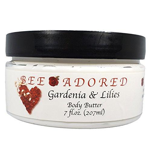 (Bee Adored Body Butter, Gardenia & Lilies, 7 Fluid Ounce)