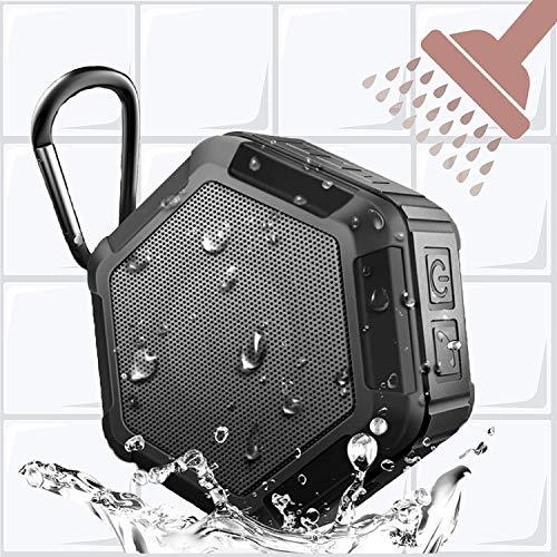 KEROLFFU Mini Shower Bluetooth Speaker 5Watt,Rich Enhanced Bass,Louder HD Sound, Outdoor Sport IPX5 Waterproof