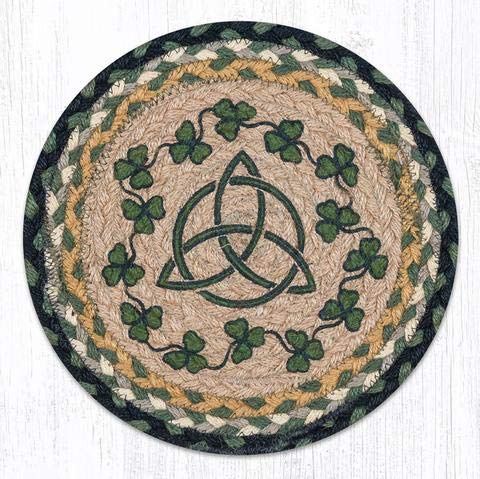 Earth Rugs TS-116IS-4 Set of Trivets, 10''x10'', Green by Earth Rugs