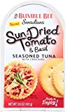 Bumble Bee Sensations Seasoned Tuna with Crackers, Sund- Dried Tomato and Basil, 3.6 Ounce Packages (Pack of 12)