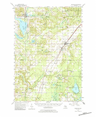 - YellowMaps Mancelona MI topo map, 1:62500 Scale, 15 X 15 Minute, Historical, 1956, Updated 1984, 21.9 x 18 in - Polypropylene
