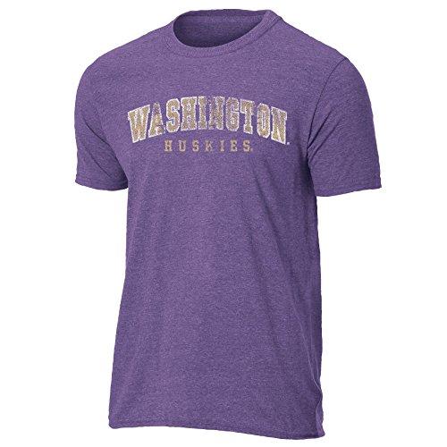 NCAA Washington Huskies Mens Vintage Sheer Short Sleeve Tee, Small, Heather ()