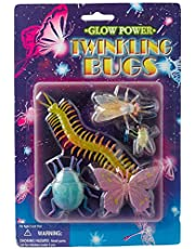 TOY MAJOR Glow in the dark Twinkling Bugs Multi Color Set of 5
