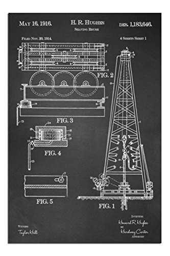 JP London Solvent Free Poster Art Print PAPMJSC10 Texas Oil Rig
