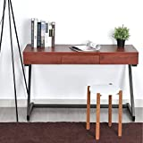 HOMY CASA Console Table, Hallway Table Entryway Furniture Retro Industrial Work Table 47 W x 15 D x 29.5H