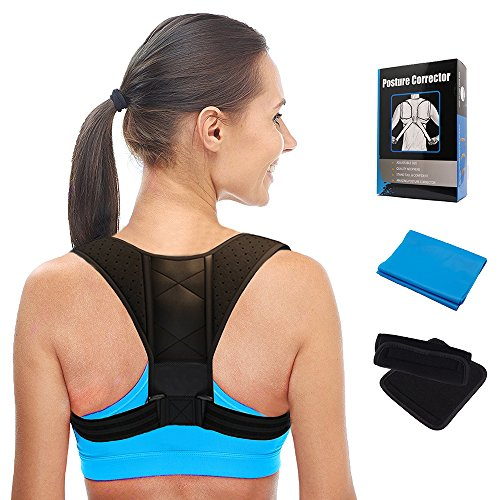 Posture Corrector for Women \u0026 Men \u2013 Effective and Comfortable Adjustable Brace Clavicle Brace, Back Straightener Spinal Support to Improve