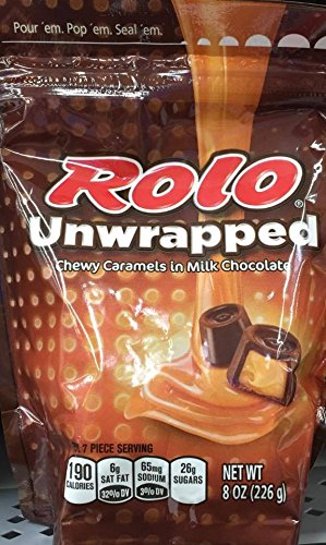 Rolo Unwrapped Resealable Bag NT WT 8 OZ