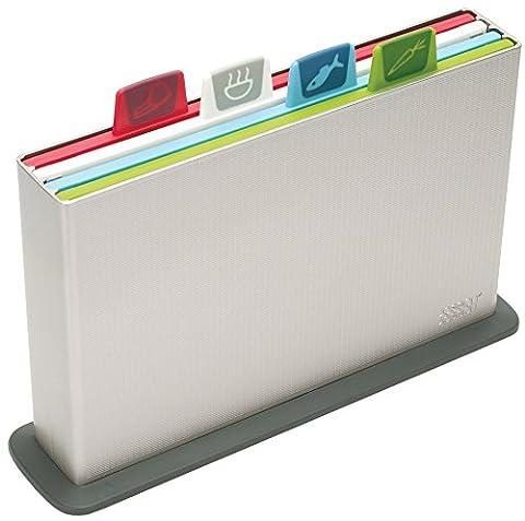 Joseph Joseph 60026 Index Cutting Board Set with Storage Case Plastic Color Coded Dishwasher-Safe, Small, (Joseph Joseph Tagliere)