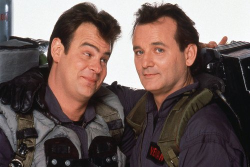 Bill Murray and Dan Aykroyd in Ghostbusters posing together in costumes 24x36 Poster - Bill Murray Costumes