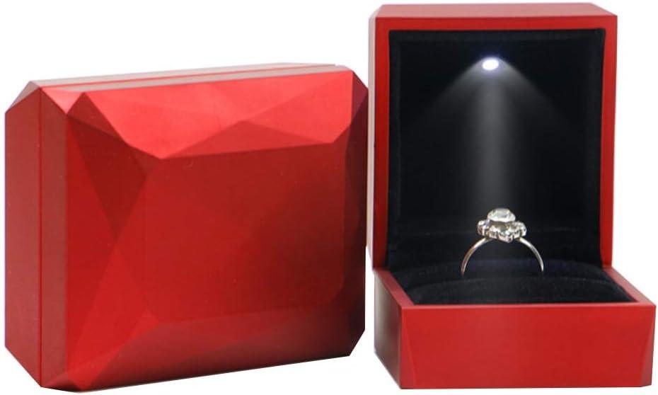 Travel Jewelry Organizer Storage Case Rhombus Surface Led Rings Holder Jewelry Storage Box Case Container Organizer Amazon Ca Beauty