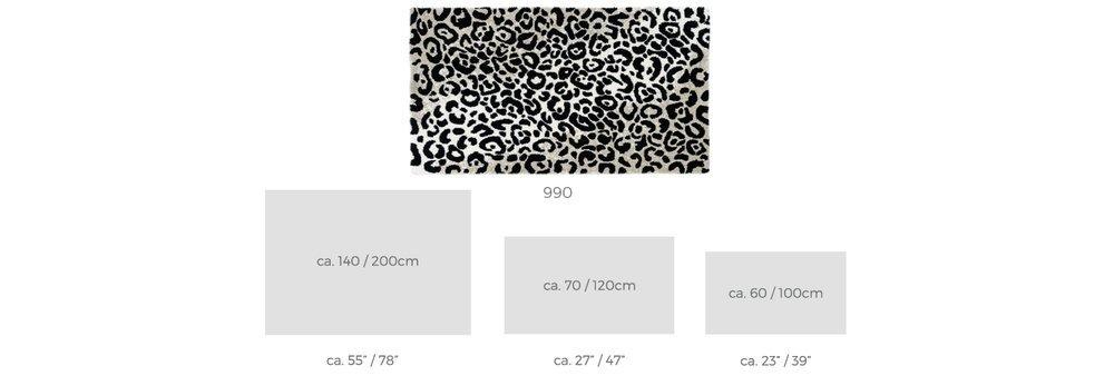 Abyss & Habidecor.- Habidecor.- Habidecor.- Badematte Leopard 70X120 cm, Farbe 990 schwarz a125f6