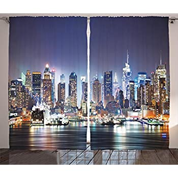 Amazon Com Creative Decorative Skyline Black And White