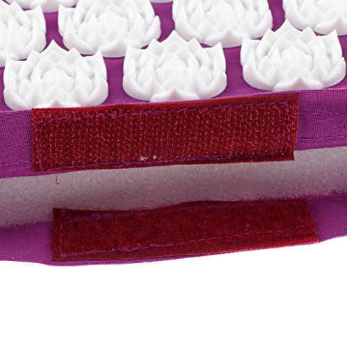 MagiDeal Acupressure Mat Neck Body Muscle Stress Meditation Yoga Massager Mat - Purple by Unknown (Image #5)