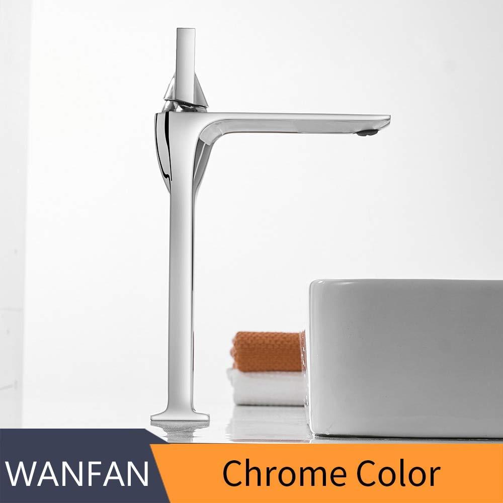 Chrome GeWu888 Retro Basin Bathroom Sink Faucet Single Handle Hole Deck Hot and Cold Faucet Crane Chrome