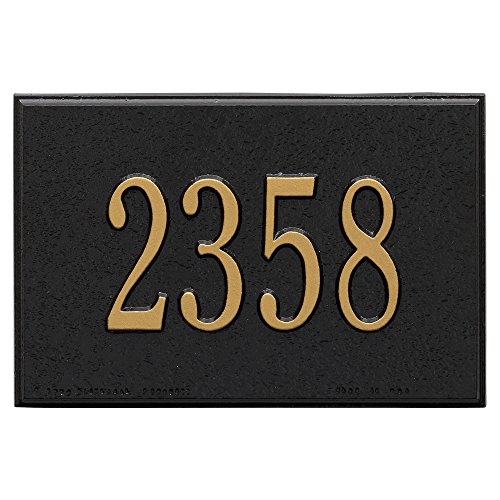 (Whitehall Products 1426BG Wall Mailbox Plaque with One Line, Black)