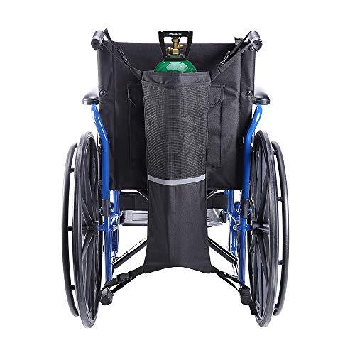 Oxygen Cylinder Bag,Oxygen Cylinder Holder for Wheelchair Walker Oxygen Tank Holder with Nice Mesh Storage Pocket Fits D and E Oxygen Tanks