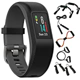 Garmin Vivosport Smart Activity Tracker + Built-In GPS (Slate, S/M) 010-01789-10 + 7-in-1 Total Resistance Fitness Kit