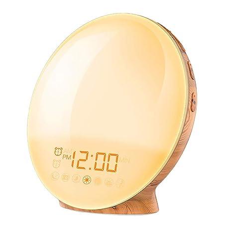 Guajave Luz LED Reloj Despertador Sunrise Simulación Ayuda ...