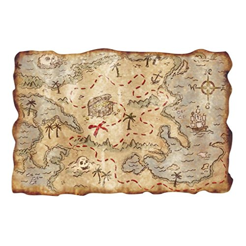 [Mememall Fashion Party Decoration Prop Favor Pirate Buried Treasure Map Costume Cosplay 12
