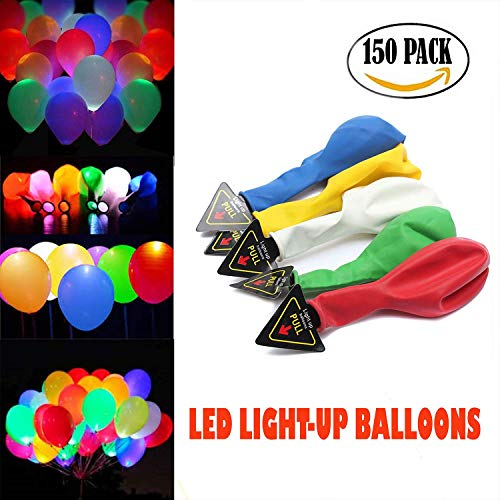 Acrim LED Light up Balloons Colorful Flash, Lights