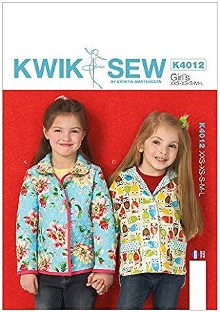 Sew Veste de Enfant Couture Kwik Filles 4012 Patron pour zGSUpLqMV