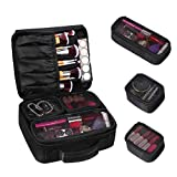 Travel Makeup Case, ETEREAUTY Makeup Cosmetic Bag Organizer Portable Makeup Train Case with Brush Holders and 3 Individual Cases for Cosmetics Makeup Brushes Toiletry Jewelry Digital Accessories