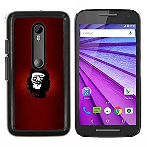 Qstar Arte & diseño plástico duro Fundas Cover Cubre Hard Case Cover para Motorola MOTO G3 / Moto G (3nd Generation) (Cara rebelde Che Troll - Funny Lol Meme)