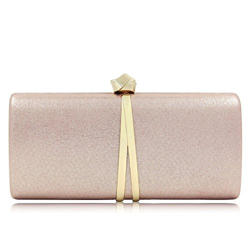 Women Purses and Evening with Hard Bags Clutches Party Wedding Case for Pink Chain Prom w0PxxEXI