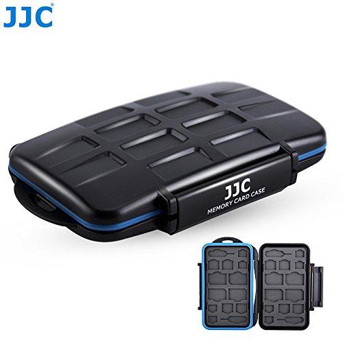 JJC MC-M24 Professional Water-Resistant Mobilephone Cellphone SIM Card Case Protector for 8 SIM + 8 Micro SIM + 8 Nano SIM Cards Storage by JJC