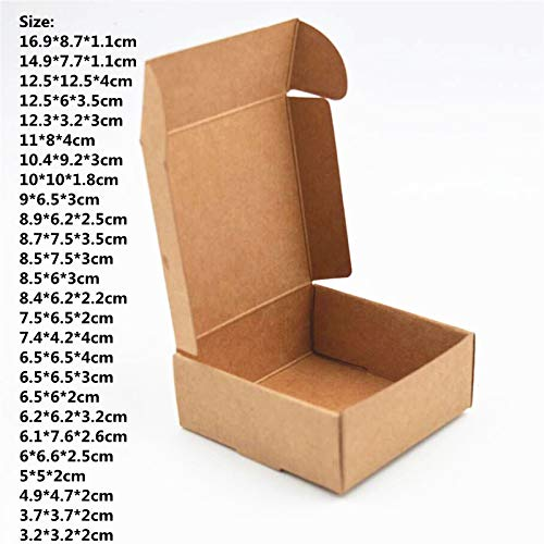 aa6bdaa15261 Amazon.com: XLPD 50Pcs/Lot Retail Black Gift Package Carboard Boxes ...