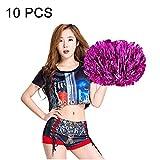 Anstorematealliance Sports&Entertainment Fitness Equipments Product 10 PCS Square Dance Aerobics Cheerleading Ball Hand Flower Bouquet, Ribbon Length: 25cm(Green) (Color : Magenta)
