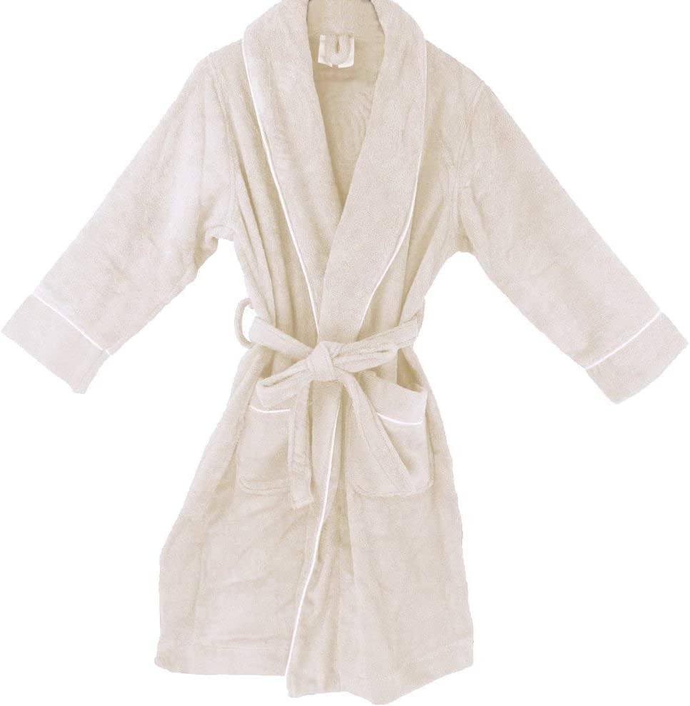 Amazon Com Men S Robe Royal Terry Cloth Premium Organic Cotton Gots Certified Luxurious Premium Quality Home Or Business Travel Use Rich Soft Feel Absorbent L Xl Natural Home Kitchen
