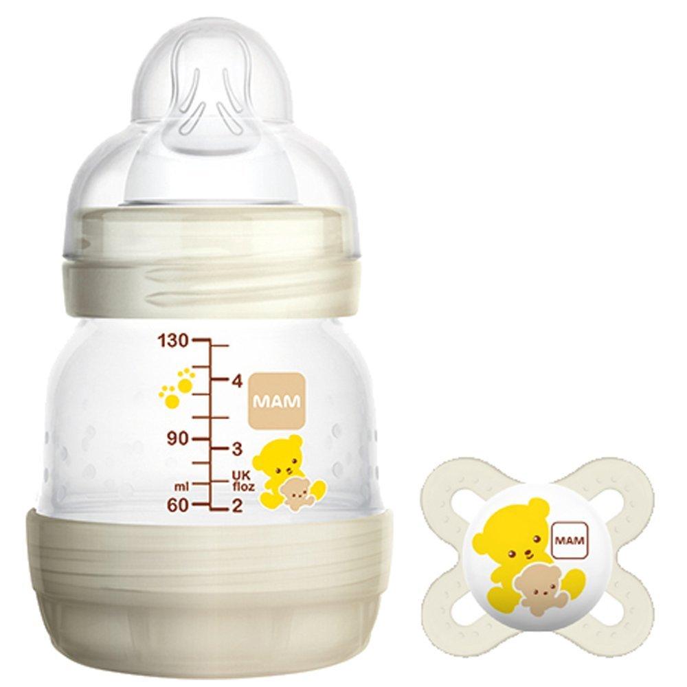 MAM Try Me Easy Start anti-coliche auto-sterilizzanti biberon e ciuccio, 130 ml 130ml